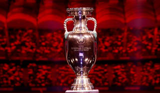 Uefa European football championship trophy Euro 2020