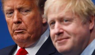 Boris Johnson welcomes Donald Trump to a NATO summit.