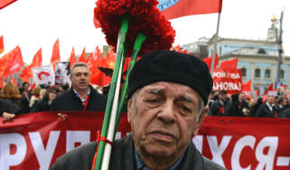 Russian communists have joined protests against pension reform