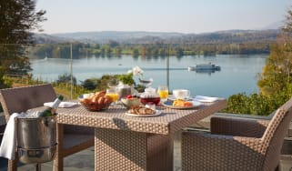Breakfast on the terrace at The Samling