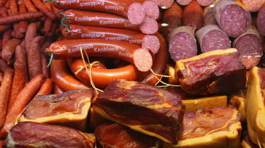 A supermarket worker has admitted stealing $9,200 worth of ham over eight years
