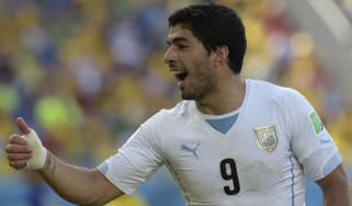 Suarez at the 2014 World Cup in Brazil