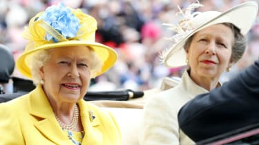 Queen Elizabeth II and Princess Anne at Ascot
