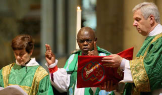 The Archbishop of York presides over a service