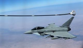 A Eurofighter Typhoon refuels