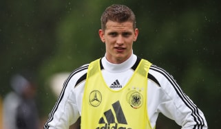 Lars Bender during a Germany training session