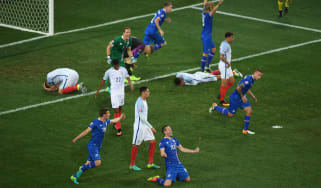 Iceland celebrate beating England at Euro 2016