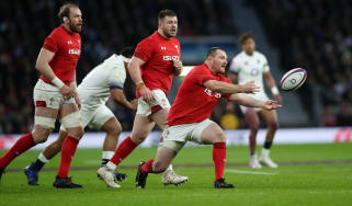 Wales hooker Ken Owens in action against England in the 2018 Six Nations