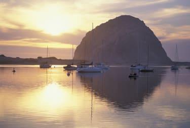 Sunset,Morro Rock ,Morro Bay, California,USA