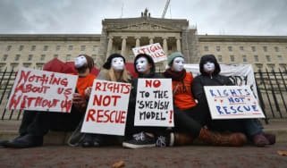 Sex workers protest at Stormont