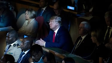 Donald Trump attends the UN Climate Action Summit in New York.