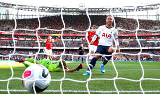 Christian Eriksen scored Tottenham's opening goal in the 2-2 draw against Arsenal