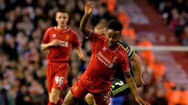 Liverpool's Raheem Sterling during the English League Cup third round football match between Liverpool and Middlesbrough