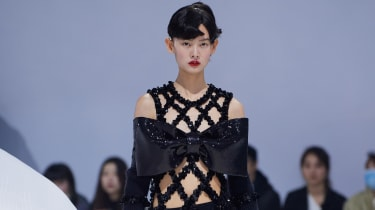 Shushu/Tong AW21 oversized bow dress