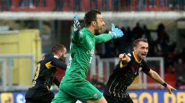 Alberto Brignoli goal goalkeeper Benevento Milan