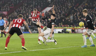 Sheffield United striker Oli McBurnie scored a late equaliser in the 3-3 draw with Manchester United