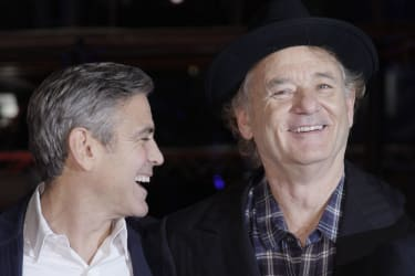 Bill Murray with George Clooney