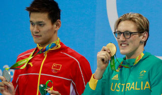 Sun Yang of China and Mack Horton of Australia