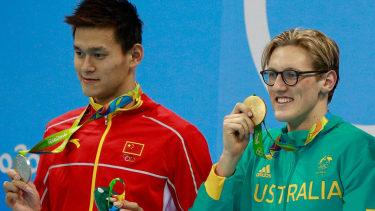 Sun Yang of China and Mack Horton of Australia