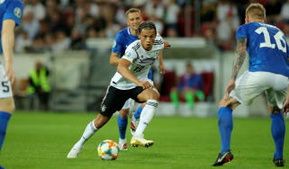 Leroy Sane made his debut for Germany in 2015