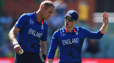 Cricket players Eoin Morgan and Stuart Broad
