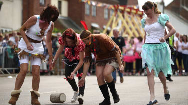 Stilton's May Day cheese-rolling competition