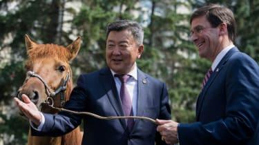 Mark Esper, Mongolia, Horse,