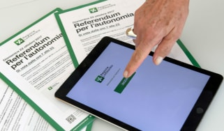 For the first time Lombardy's citizens could use an app to vote in Sunday's referendum