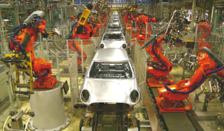 An entirely automated car factory in Germany