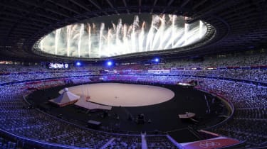Fireworks are seen during the opening ceremony