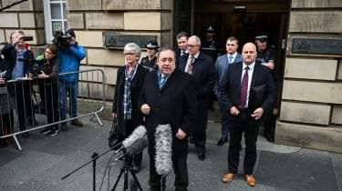Alex Salmond departs Edinburgh High Court in March 2020