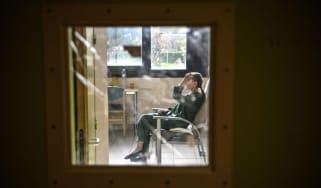 Women sits in hospital