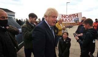 Boris Johnson campaigns in Hartlepool,