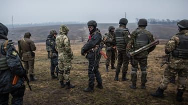 Ukrainian troops from the Donbass Battalion