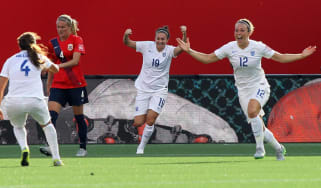 Lucy Bronze scores for England Women