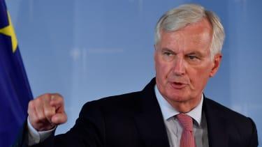 EU chief negotiator Michel Barnier addresses a press conference