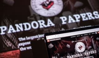 Pandora Papers seen on a screen