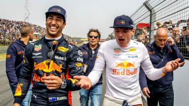 Daniel Ricciardo and his former Red Bull Racing team-mate Max Verstappen