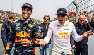Daniel Ricciardo and his former Red Bull Racing team-mate Max Verstappen
