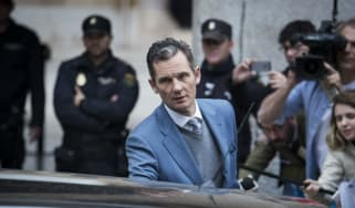 Former Olympic handball player and husband of Spain's Princess Cristina, Inaki Urdangarin, leaves court last year