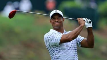 Tiger Woods at Valhalla during the PGA Championship