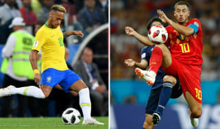 PSG's Brazil forward Neymar is a fan of Chelsea's Belgian playmaker Eden Hazard