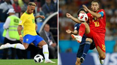 PSG's Brazil forward Neymar is a fan of Chelsea's Belgian playmaker Eden Hazard
