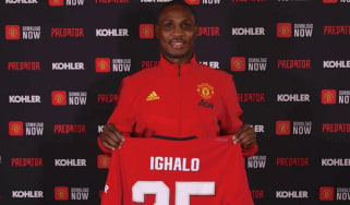 Odion Ighalo signed on loan for Manchester United in the January transfer window