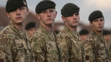 Young British soldiers