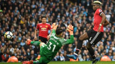 Paul Pogba Manchester United Man City Premier League