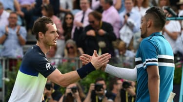 Britain's Andy Murray lost to Australian Nick Kyrgios at Queen's in 2018