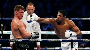 Anthony Joshua vs. Alexander Povetkin boxing Wembley