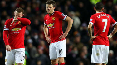 Manchester United players look dejected during the march with Southampton