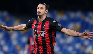Swedish striker Zlatan Ibrahimovic plays club football for AC Milan in Italy